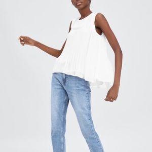 Zara ecru top in white